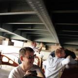 На теплоходе под мостами Петербурга