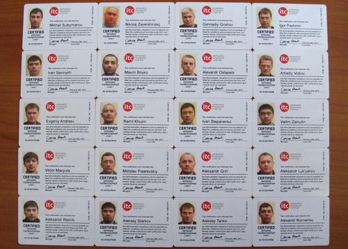 Сертификаты термографистов ITC