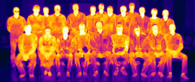 ИК-излучение участников курса (радиометрический файл JPG)