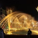 Астана, поющие фонтаны на бульваре Нуржол